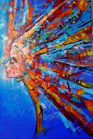 Obraz do salonu artysty Łukasz Jankiewicz pod tytułem Portret emocjonalny kobiety