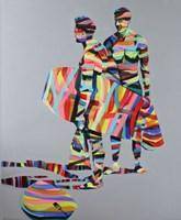 Obraz do salonu artysty Paweł Dąbrowski pod tytułem  Beach boys surfing
