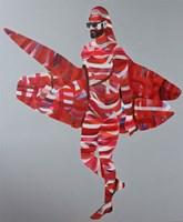 Obraz do salonu artysty Paweł Dąbrowski pod tytułem Biało-czerwony surfer