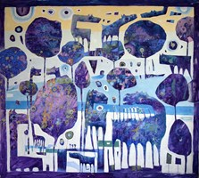 Obraz do salonu artysty Grzegorz Skrzypek pod tytułem Poranek nad Sekwaną