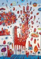 Obraz do salonu artysty Grzegorz Skrzypek pod tytułem Tam gdzie rosną poziomki