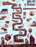 Obraz do salonu artysty Grzegorz Skrzypek pod tytułem Głowa rodziny
