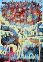 Obraz do salonu artysty Grzegorz Skrzypek pod tytułem Gravitodzewko z zębatym koniostworkiem