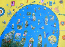Obraz do salonu artysty Grzegorz Skrzypek pod tytułem Lazurowy przypływ