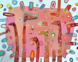 Obraz do salonu artysty Grzegorz Skrzypek pod tytułem Landrynkowa sweetfotka