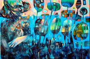 Obraz do salonu artysty Grzegorz Skrzypek pod tytułem Przypadkowy kotostworek