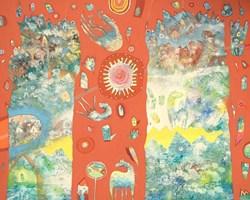 Obraz do salonu artysty Grzegorz Skrzypek pod tytułem Słoneczna gravigalaktyka 1313