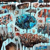 Obraz do salonu artysty Grzegorz Skrzypek pod tytułem Sprzedający kasztany