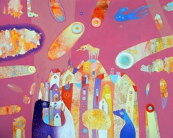 Obraz do salonu artysty Grzegorz Skrzypek pod tytułem Maltański pocałunek