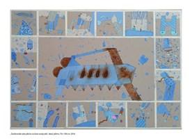 Obraz do salonu artysty Jacek Wojciechowski pod tytułem Zardzewiała ryba piła bo za dużo wody piła