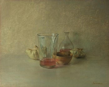 Living room painting by Wiesław Nowakowski titled From the series: Beige Still Life 2