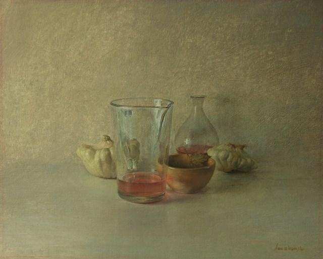 Obraz do salonu artysty Wiesław Nowakowski pod tytułem Z cyklu: Beżowa Martwa natura 2