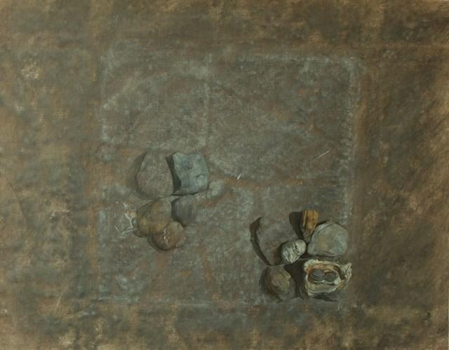 Obraz do salonu artysty Wiesław Nowakowski pod tytułem Z cyklu: Beżowa Martwa natura 3
