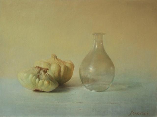 Obraz do salonu artysty Wiesław Nowakowski pod tytułem Z cyklu: Beżowa Martwa natura 8