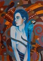Obraz do salonu artysty Marcin Painta pod tytułem Ona i papuga 6
