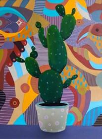 Obraz do salonu artysty Marcin Painta pod tytułem Kaktus
