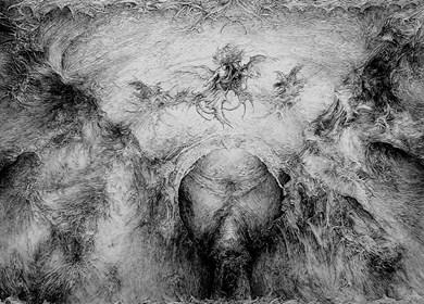 Obraz do salonu artysty Andrzej Masianis pod tytułem Archanioł