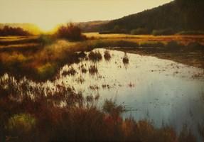 Obraz do salonu artysty Konrad Hamada pod tytułem Zachód słońca