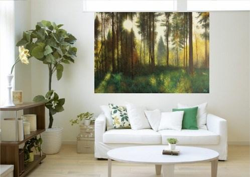 Las pod słońce - wizualizacja pracy autora Konrad Hamada