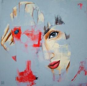Obraz do salonu artysty Renata Magda pod tytułem Spojrzenia we mgle ...
