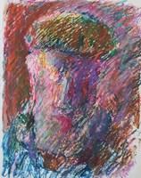 Obraz do salonu artysty Jerzy Panek pod tytułem Abstrakcja - twarz 1