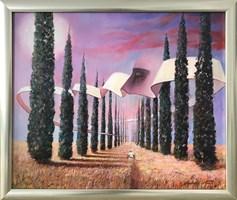 Obraz do salonu artysty Andrzej Wroński pod tytułem Włoski spacer