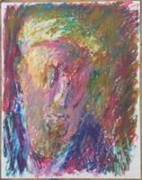 Obraz do salonu artysty Jerzy Panek pod tytułem Autoportret w czapce