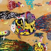 Obraz do salonu artysty Natalia Pastuszenko pod tytułem Ryby jako środek transportu