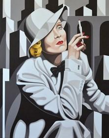 Obraz do salonu artysty Tomasz Kostecki pod tytułem Marlena w Nowym Jorku