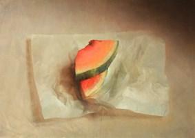 Obraz do salonu artysty Wiesław Nowakowski pod tytułem Martwa natura z arbuzem