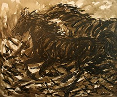 Obraz do salonu artysty Adam Bojara pod tytułem K2 Konie