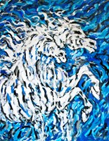 Living room painting by Adam Bojara titled K11 Horses