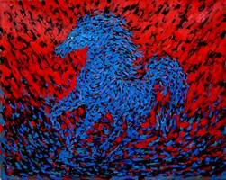 Obraz do salonu artysty Adam Bojara pod tytułem K13 Konie