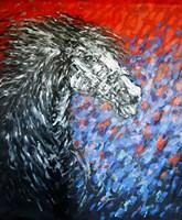 Obraz do salonu artysty Adam Bojara pod tytułem K17 Konie