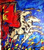 Obraz do salonu artysty Adam Bojara pod tytułem K20 Konie