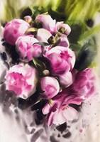 Obraz do salonu artysty Karina Jaźwińska pod tytułem Różowe pąki
