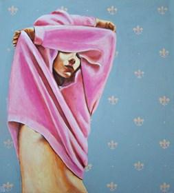 Obraz do salonu artysty Renata Magda pod tytułem Pink sweater II