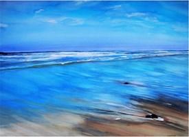 Obraz do salonu artysty Joanna Sadecka pod tytułem Odpływ w Biscarosse