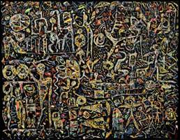 Obraz do salonu artysty Krzysztof Pająk pod tytułem Czarne złoto