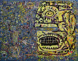 Obraz do salonu artysty Krzysztof Pająk pod tytułem Pożeracz czasu