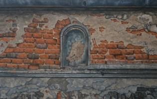 Obraz do salonu artysty Jan Bembenista pod tytułem Miejsce po kapliczce