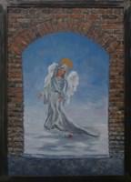 Obraz do salonu artysty Jan Bembenista pod tytułem Anioł w bramie