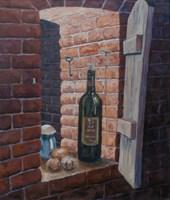Obraz do salonu artysty Jan Bembenista pod tytułem Martwa natura piwniczna