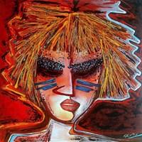Obraz do salonu artysty Piotr Kopczyński pod tytułem Aiko (cykl Maski)
