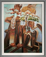 Obraz do salonu artysty Andrzej Wroński pod tytułem Wiejskie wesele