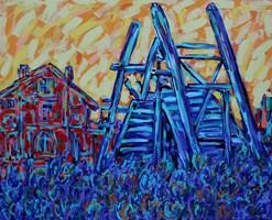 Living room painting by Adam Bojara titled Van Gogha