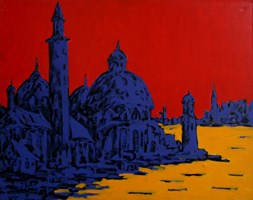 Living room painting by Adam Bojara titled O12 Venice