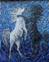 Obraz do salonu artysty Adam Bojara pod tytułem K58 Konie