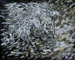 Obraz do salonu artysty Adam Bojara pod tytułem K51 Konie