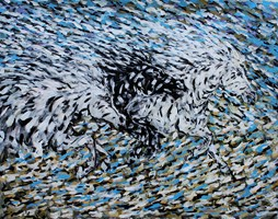 Obraz do salonu artysty Adam Bojara pod tytułem K50 Konie